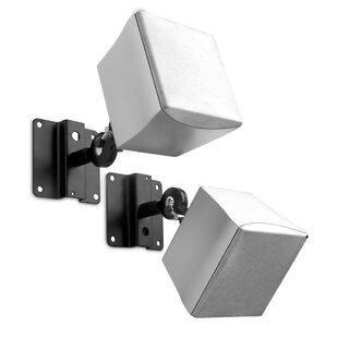Gallo Adjustable Satellite Universal WallCeiling Speaker Mount Set of 2 by Symple Stuff