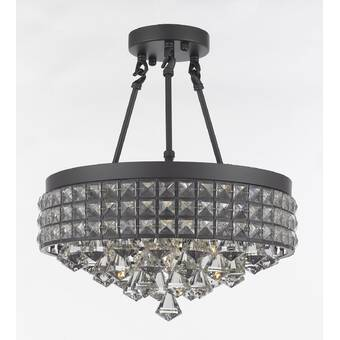 17 Stories Moua 3 Light Statement Globe Chandelier Wayfair