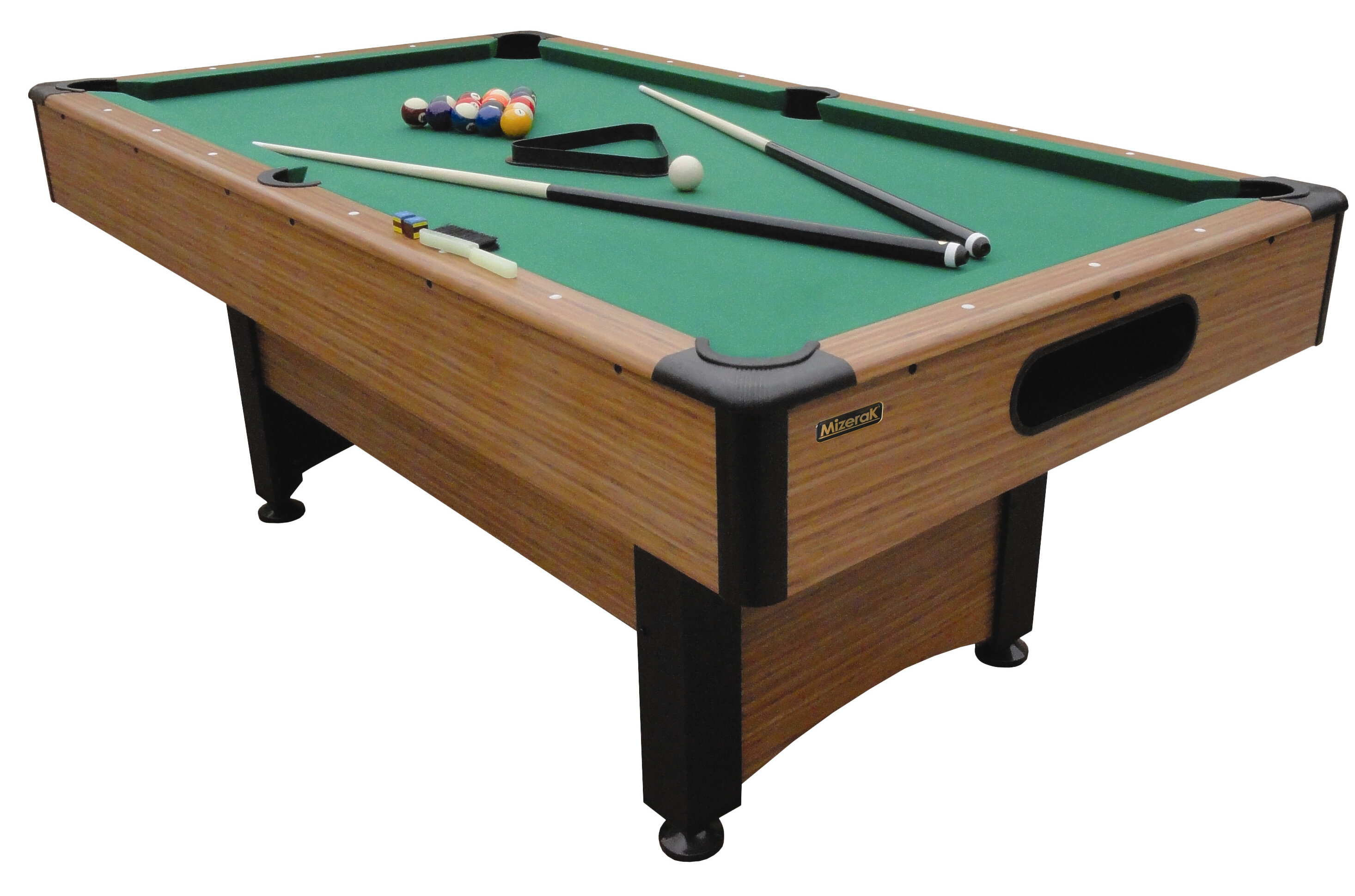 Mizerak Dynasty Space Saver 6.5' Pool Table & Accessories ...