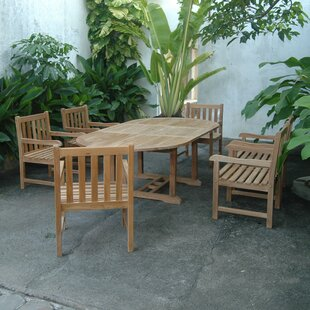 Bayou Breeze Kramer Extension 7 Piece Teak Dining Set