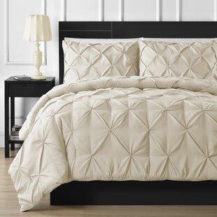 Mccoy Microfiber Modern & Contemporary 3 Piece Comforter Set