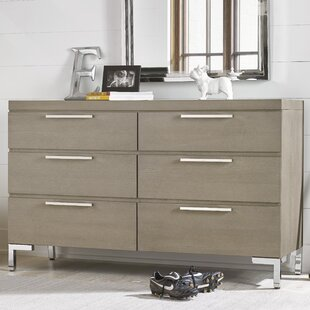 Harriet Bee Leland 6 Drawer Double Dresser