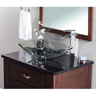 Oblong Glass Vessel Bathroom Sink