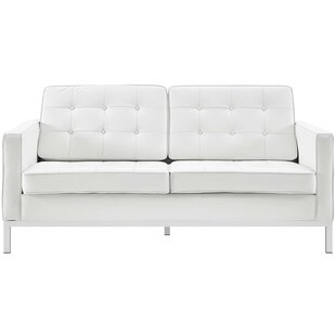 Gayatri Leather Loveseat