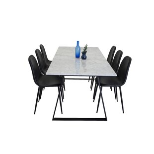 Mabel Dining Set With 6 Chairs By Canora Grey