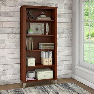 Chase 5 Shelf Standard Bookcase Red Barrel Studio