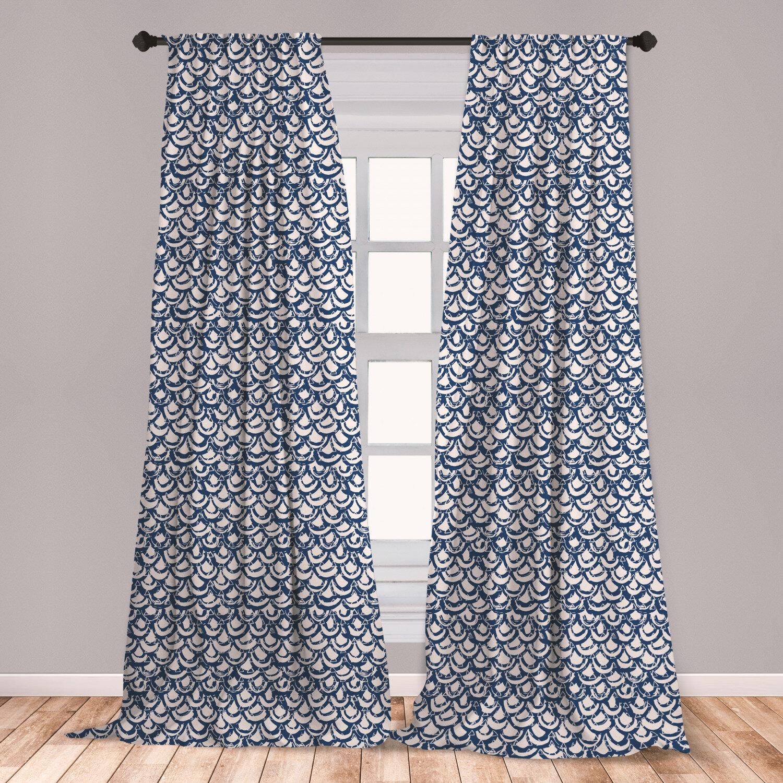 East Urban Home Ethnic Geometric Room Darkening Rod Pocket Curtain Panels Wayfair