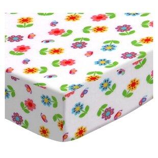 Colorful Roses Pack and Play Crib Sheet BySheetworld