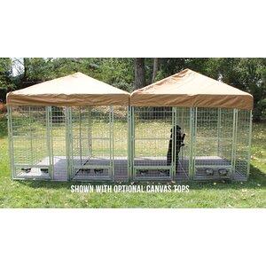 3 Dog Galvanized Steel Yard Kennel