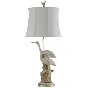 Affordable Price Hickerson Cotton Bayou Coastal 37 Table Lamp By Highland Dunes