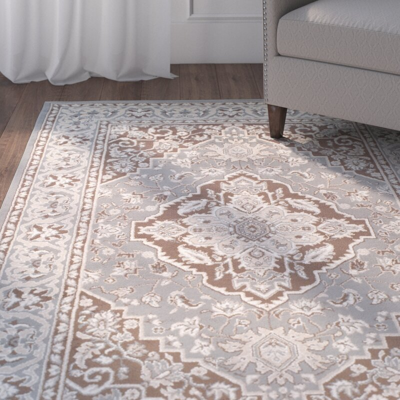 Astoria Grand Vassar Gray Brown Area Rug Wayfair