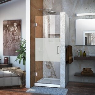Unidoor 27 x 72 Hinged Frameless Shower Door with Clearmax? Technology by DreamLine