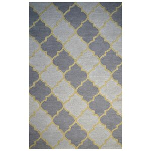 Wool Hand-Tufted Ivory/Purple Area Rug