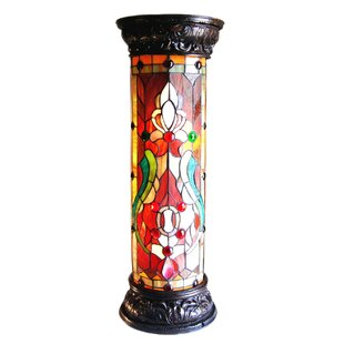 Marple Tiffany-Glass 2-Light Victorian 30 Pedestal Floor Light Fixture