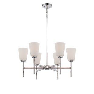 Ebern Designs Simich 6-Light Shaded Chandelier
