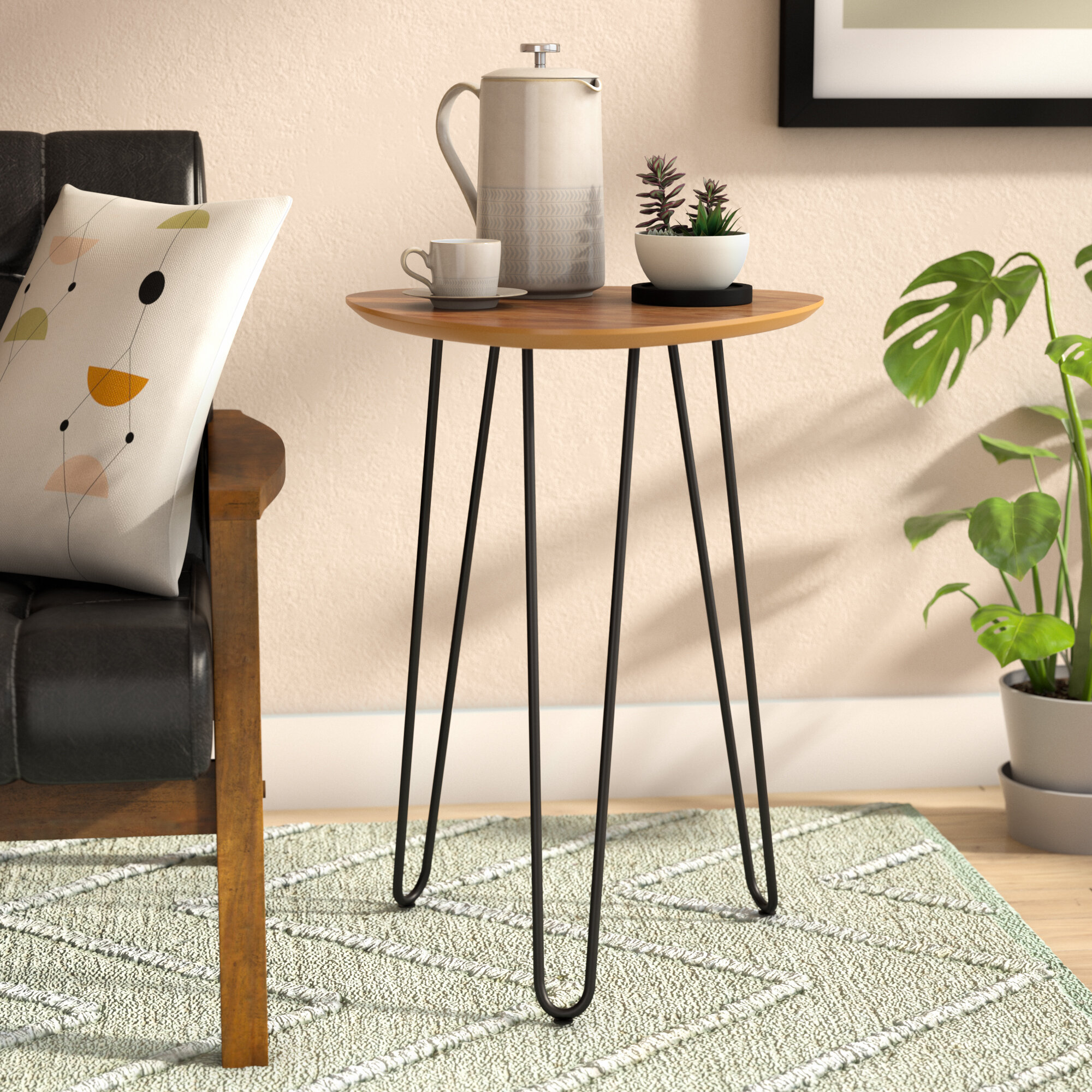 promo code f1c41 30e39 Diane Hairpin Leg Wood Side Table