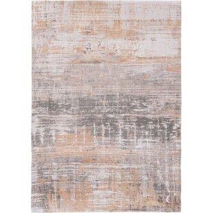Atlantic Streaks Orange/Grey Rug by Louis de Poortere