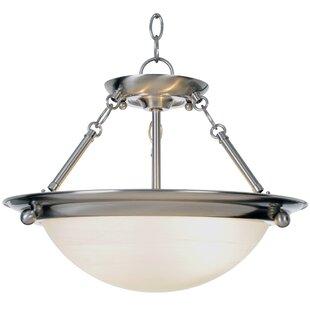 Lunar Bay 2-Light Bowl Pendant by Monument