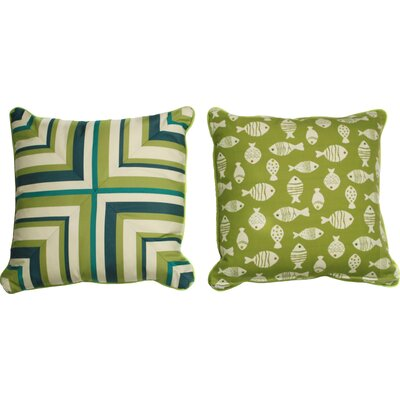 St Philips Medium Indoor/Outdoor Throw Pillow by Bay Isle Home Fresh