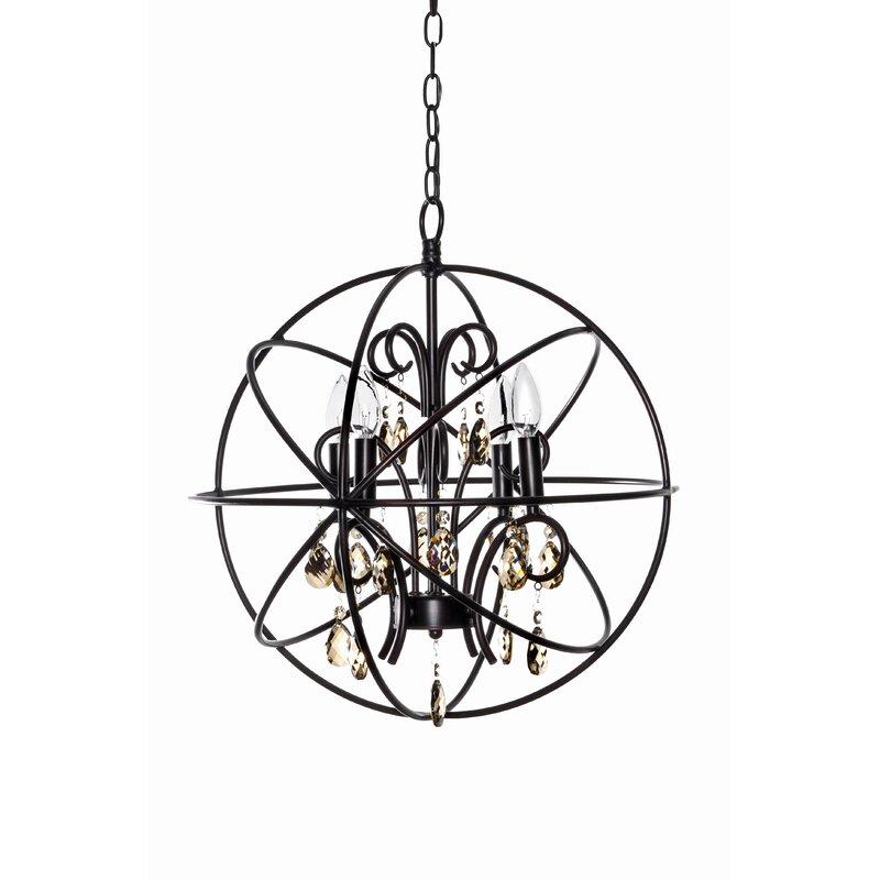 Willa Arlo Interiors Alden 4 Light Globe Chandelier Reviews