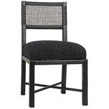 Lobos Solid Wood Side Chair in Charcoal Black by Noir