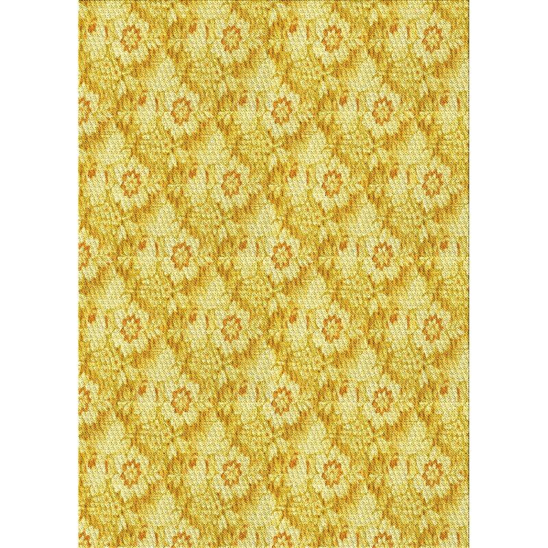 East Urban Home Atoll Floral Wool Yellow Area Rug Wayfair