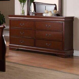 Laurel Foundry Modern Farmhouse Guffey 6 Drawer Wood Double Dresser