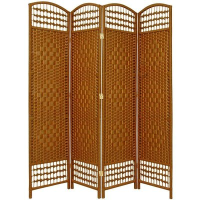4-Panel Room Divider Color: Dark Beige by Bay Isle Home