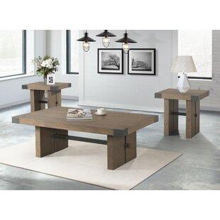 Gracie Oaks Schwab 3 Piece Coffee Table Set