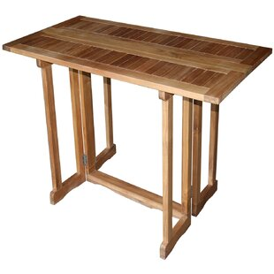 Hatteras Teak Bar Table by Chic Teak