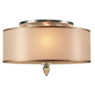 Stauffer 3-Light Semi Flush Mount by Winston Porter