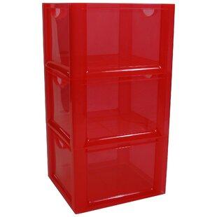 32 qt Plastic Cube or Bin (Set of 3) Rebrilliant