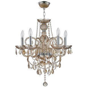 Astoria Grand Rayburn 2 Tier Crystal 5-Light Chandelier