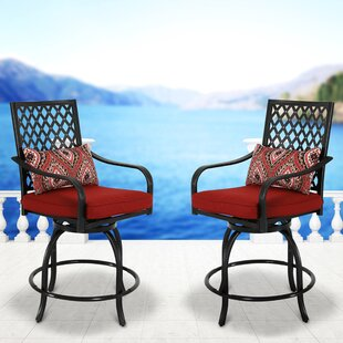 Devito 43.5 Swivel Bar Stool (Set Of 2) by Charlton Home Purchase