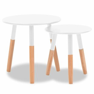 Josephus Solid Pinewood 2 Piece Nest Of Tables By Brayden Studio
