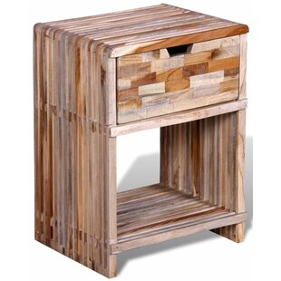 Sidney Reclaimed Teak 1 Drawer Bedside Table By 17 Stories