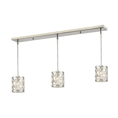 Fearn 3 Light Kitchen Island Pendant Ivy Bronx Finish Brushed Nickel