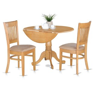 August Grove Spruill Bistro 3 Piece Drop Leaf Dining Set