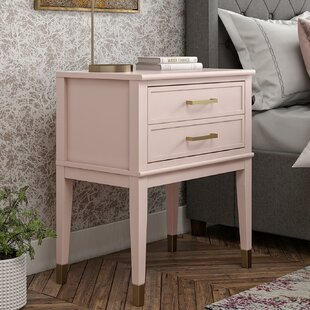 PINK Nightstand  Side Table Kid/'s Room Shabby Chic Bed Room Furniture Home Decor