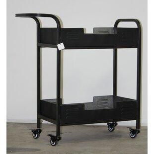 Brower Industrial Metal Bar Cart