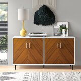 """Givens Bookmatch 58"""" Wide Sideboard"""