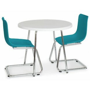Best Reviews Little Modern Kids 3 Piece Writing Table and Chair Set ByP'kolino