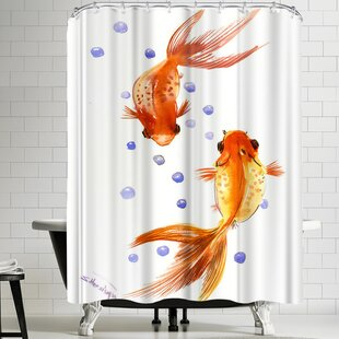 Suren Nersisyan Feng Shui Goldfish Koi 1 Single Shower Curtain