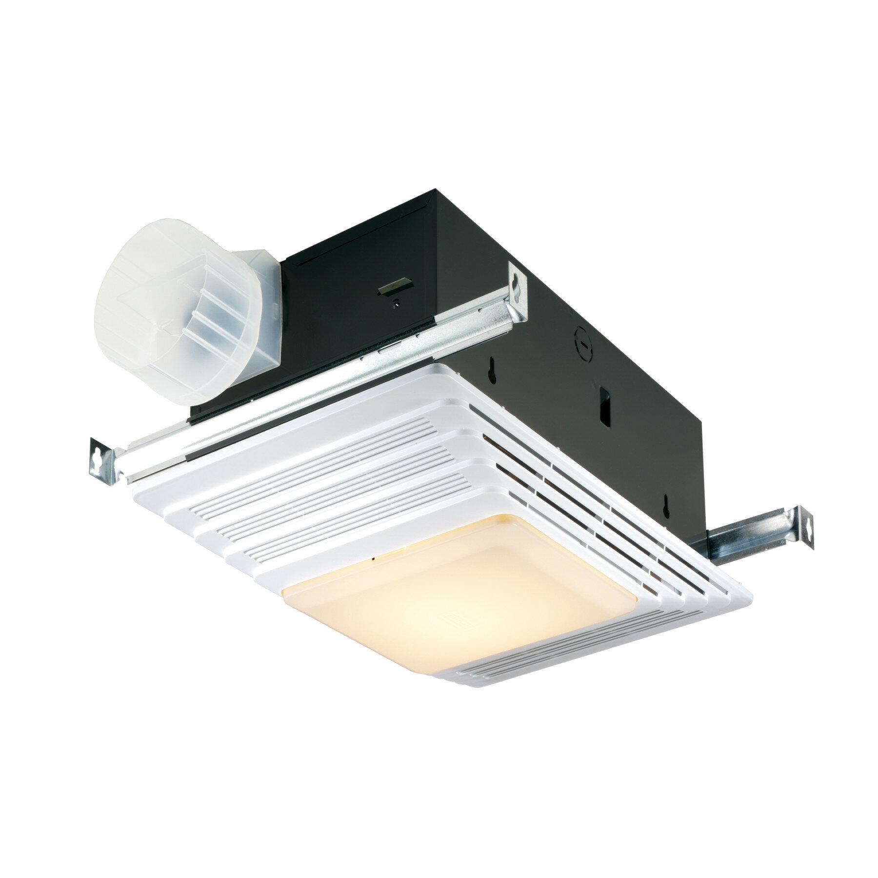 Broan 50 Cfm Bathroom Fan With Light And Heater Reviews Wayfair