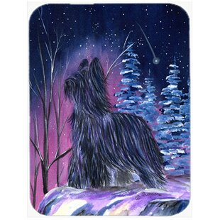 Starry Night Briard Glass Cutting Board By Caroline's Treasures