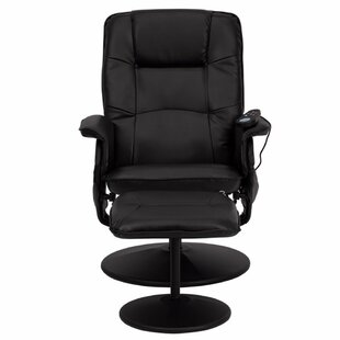 Heated Reclining Massage Chair with Ottoman by Red Barrel Studio