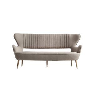 Terrie Modern Light Grey Fabric Sofa by Everly Quinn