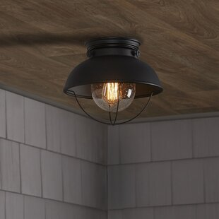 Corbel Outdoor Semi-Flush Mount by Beachcrest Home