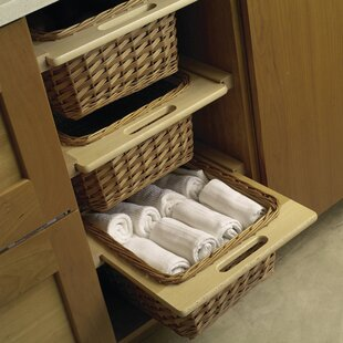Symple Stuff Beale Wicker Basket Cabinet Pull Out Drawer