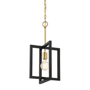 Janiyah 1-Light Square Pendant by Mercer41